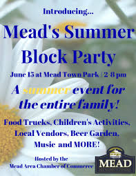 Block Party Flyer Meads Summer Block Party Flyer Mead Area Chamber Of Commerce