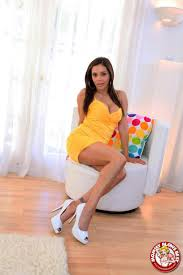Francesca Le sucks on big cock in a yellow dress My XXX Pass 16.
