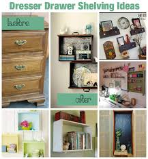 upcycle dresser drawers as hanging shelves 10 ideas