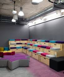 coolest office supplies. collaboration area tiered seating gresham interaction offices office design cool coolest supplies