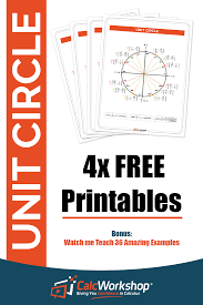 Calculus Circle Chart Unit Circle W Everything Charts Worksheets 35 Examples