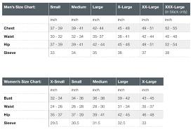 Hoodie Size Chart Yesler