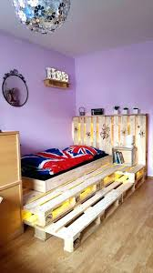 diy bedframe from pallets intended for household