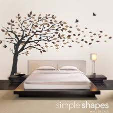 vinyl wall art decal sticker blowing leaves tree by