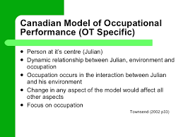 case study julian  22 canadian model of occupational performance ot
