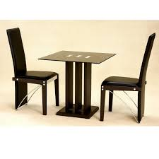 heartlands troy small glass dining table set 2 chairs for
