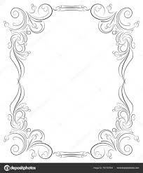 vintage black frame. Vintage Black Frame \u2014 Stock Vector
