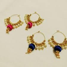 Designer Earrings Rings Pin By Sam On Silk Thread Jewellery Silk Thread Earrings