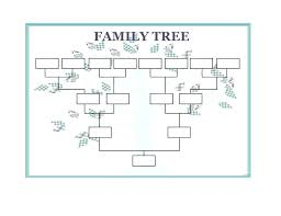 Template Sample A Printable Family Tree Four Generation Free 5 Word ...