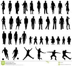 People silhouettes stock vector Illustration of aerobics 5336397