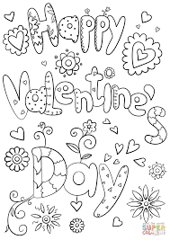 Happy Valentine's Day coloring page | Free Printable Coloring Pages