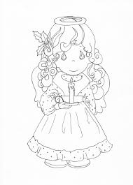 Precious Moments Christmas Angel Coloring Page