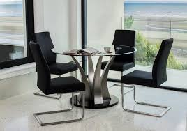furniture joy liberty round dining table with tempered glass top