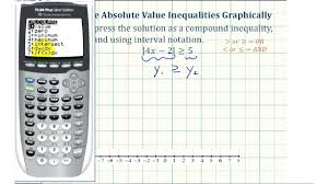 solve the radical equation calculator math ex solve absolute value inequalities on the graphing calculator math
