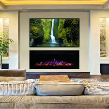 top flush mounted electric fireplaces j0206857 recessed