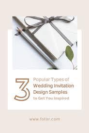 3 Popular Types Of Wedding Invitation Design Samples To Get