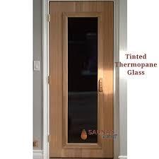 3 x 6 8 ada width cedar sauna room door tinted glass