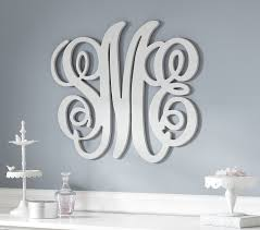 brilliant monogram wall art home decor ideas family decals design living room wood metal for nursery diy uk