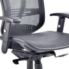 chair with headrest. headrest image of the mesh sprung seat on dynamic mirage ii executive office chair with