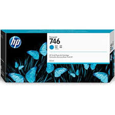 <b>HP 746 DesignJet</b> Ink Catridge, 300 mL, Cyan (P2V80A)