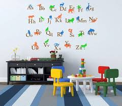 alphabet letters wall decals kids room