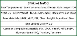 Sodium Hypochlorite Bleach Storage Tanks Specifications