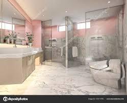 3d Rendering Rosa Vintage Badezimmer Mit Luxuriösen Fliesen Dekor