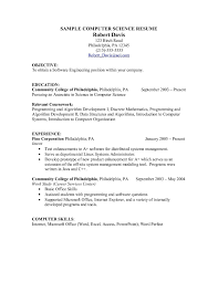 Objective In Resume For Computer Science Resume Examples Computer Science Examples of Resumes 29