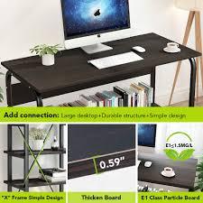 Computer Desk Simple Design Us 180 99 Computer Desk With Shelf 2 Piece Study Writing Table Workstation 5 Tier Bookshelf Set For Home Office In Laptop Desks From Furniture On