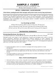 Professional Retail Manager Cv Sample 4466 Resume Template 1
