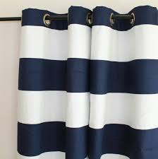 Navy And White Curtains Curtain Navy And White Striped Curtains Etsy For Navy Blue