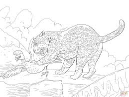 Small Picture Jaguar Catches a Bird coloring page Free Printable Coloring Pages
