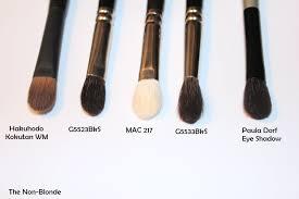eye makeup brushes and their uses. hakuhodo g5523bks and g5533bksl eye shadow brushes (e1536 \u0026 e1546) makeup their uses