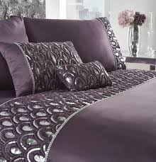 crystal duvet cover and pillowcase set amethyst super king zoom