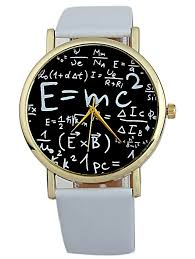 uni watches white faux leather math equation watch gamiss