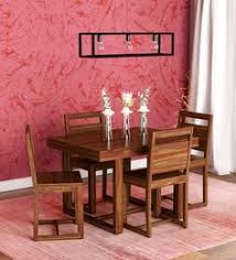 avian solid wood four seater dining set in provincial teak finish