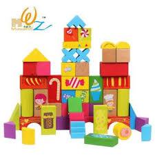 birthday gift box 52pcs grain of large blocks wooden educational toys scenario building