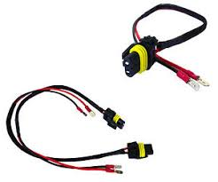 h1 h3 male connectors plugs pigtail bulb wires harness hid input Hid Wire Harness image is loading h1 h3 male connectors plugs pigtail bulb wires hid wiring harness