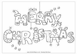 Merry Christmas Printable Coloring Pages Happy Holidays
