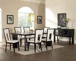 modern dining room chandeliers futuristic black wooden chairs furniture sets charming black metal pendant lamp broad
