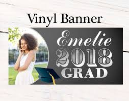 Graduation Photo Banner Congrats Grad Personalized Party Banners