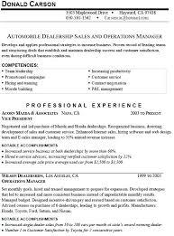 Resume For Car Sales Car Salesman Resume Objective Salesman Resume