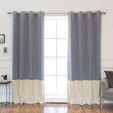 Gray and beige curtains Remodel Best Home Fashion Colorblock Thermal Insulated Blackout Curtains Antique Bronze Grommet Top Grey Amazoncom Beigegrey Curtains Amazoncom
