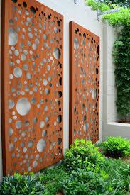 decorative sheet metal panels contemporary landscape and bubbles climbers corten decorative screen feature screen garden bed