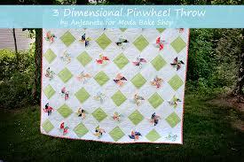 3D Pinwheel Throw Quilt Â« Moda Bake Shop & 3D Pinwheel Throw Quilt Adamdwight.com