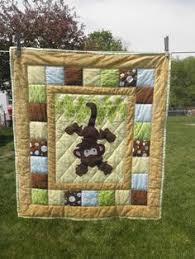 Dinosaur Quilt | Babies, Kid quilts and Patchwork & Just Hanging Around Monkey quilt (colors can be changed to fit girl, boy or  neutral nursery). Great for jungle themed nurseries! Adamdwight.com