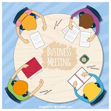 background of business meeting at a roundtable