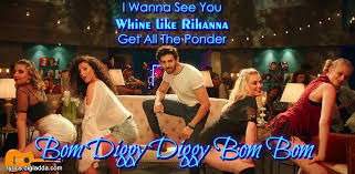 Bom Diggy Diggy Bom Bom Song Lyrics Sonu Ke Titu Ki Sweety बम Simple Dam Degge Hndi Sung