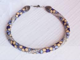 PDF Pattern for beaded crochet <b>necklace</b> + Bonus - <b>Seed beads</b> ...
