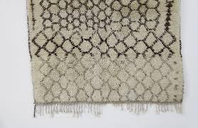 vintage berber wool carpet brown green white